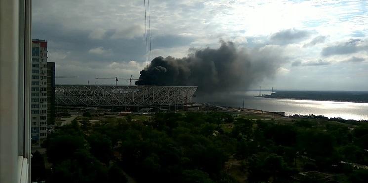 Estádio em construção para a Copa do Mundo de 2018 pega fogo em Volgograd
