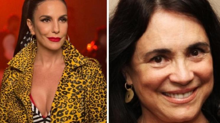 Ivete Sangalo curte crítica a Regina Duarte em post anti-PT da atriz