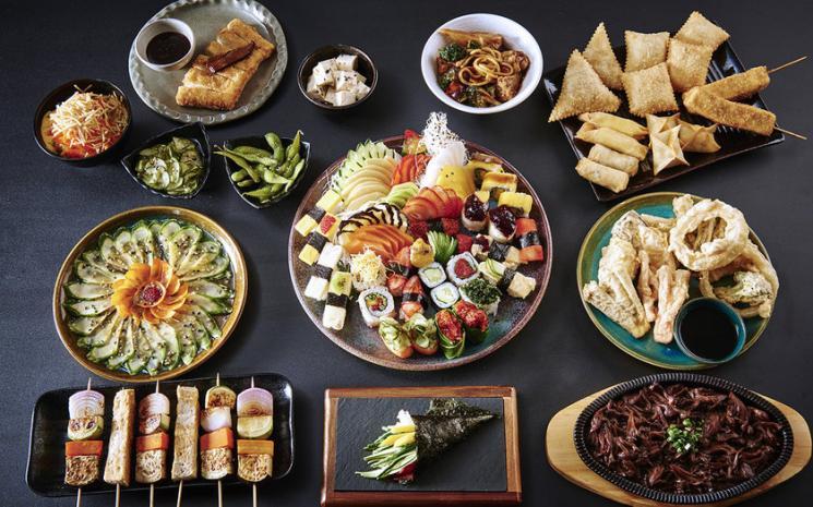 Restaurante japonês inova com rodízio vegetariano com mais de 20 pratos