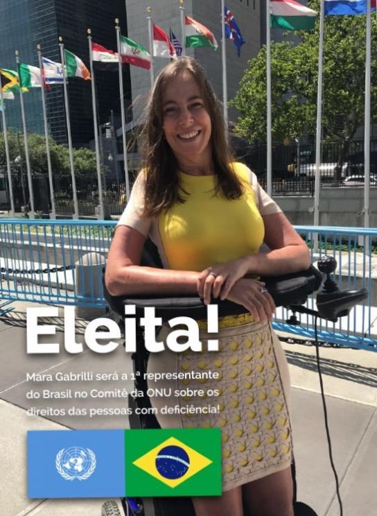 Mara Gabrilli será a 1ª representante do Brasil no Comitê da ONU sobre os Direitos das Pessoas com Deficiência