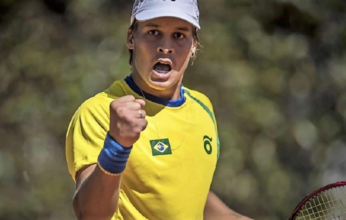 bc86f56800d Gilbert Klier supera pressão da torcida e está na semifinal do tênis dos  Jogos Olímpicos da Juventude Buenos Aires 2018
