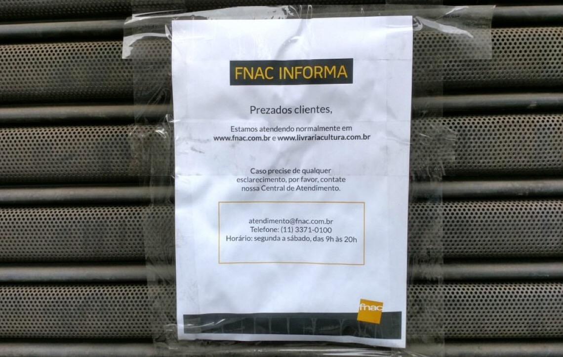 f2f6e2b11dc Fnac fecha quase todas as lojas após ser comprada pela Livraria Cultura
