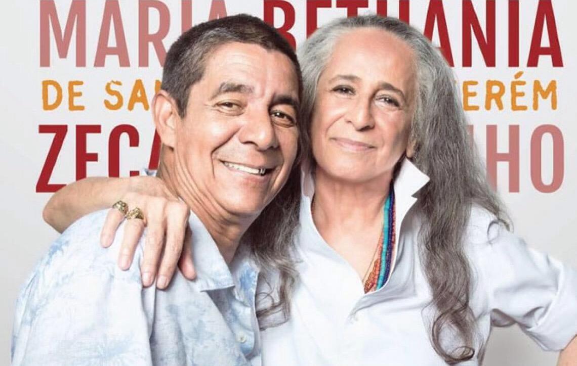 Maria Bethânia e Zeca Pagodinho em Brasília