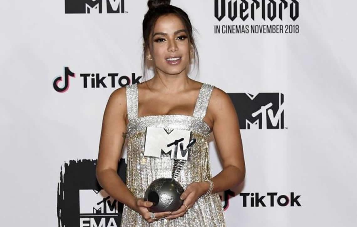Anitta é eleita Melhor Artista Brasileira no MTV EMA 2018