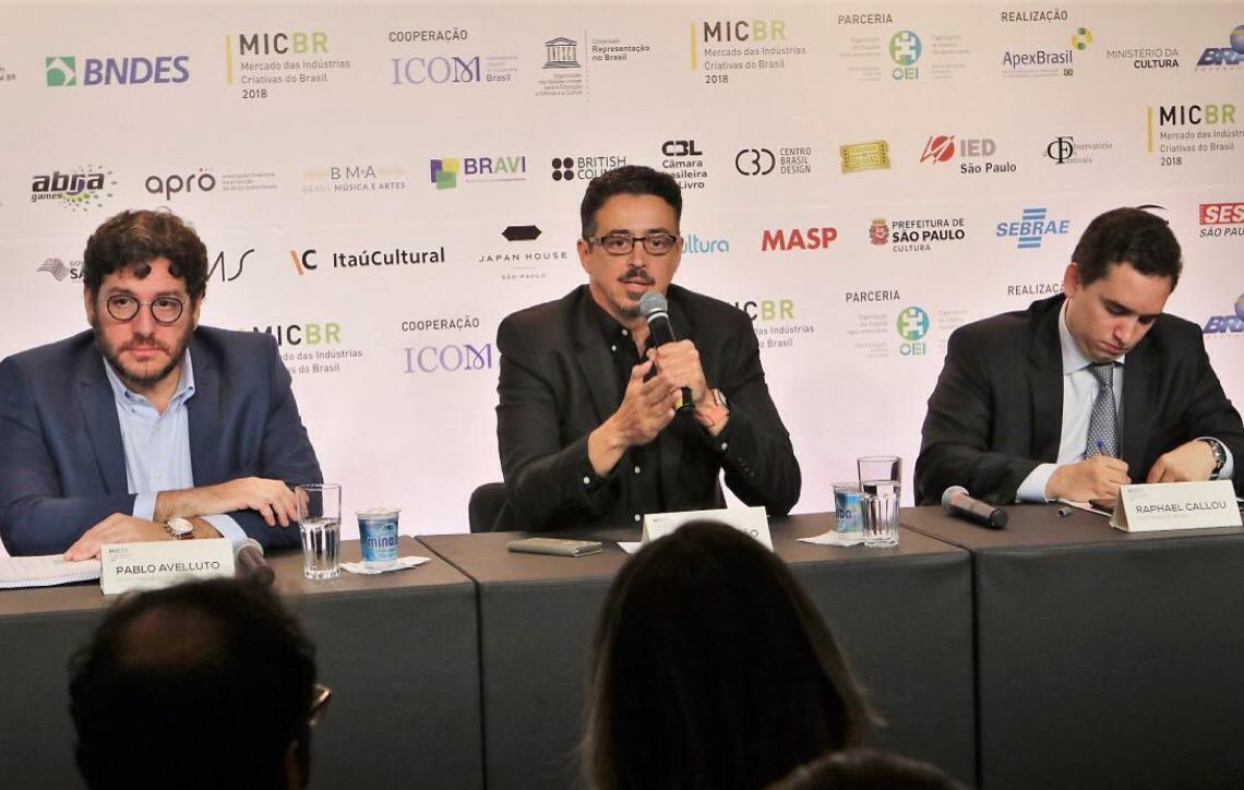 Em coletiva de imprensa do MicBR, ministro destaca força da economia criativa brasileira