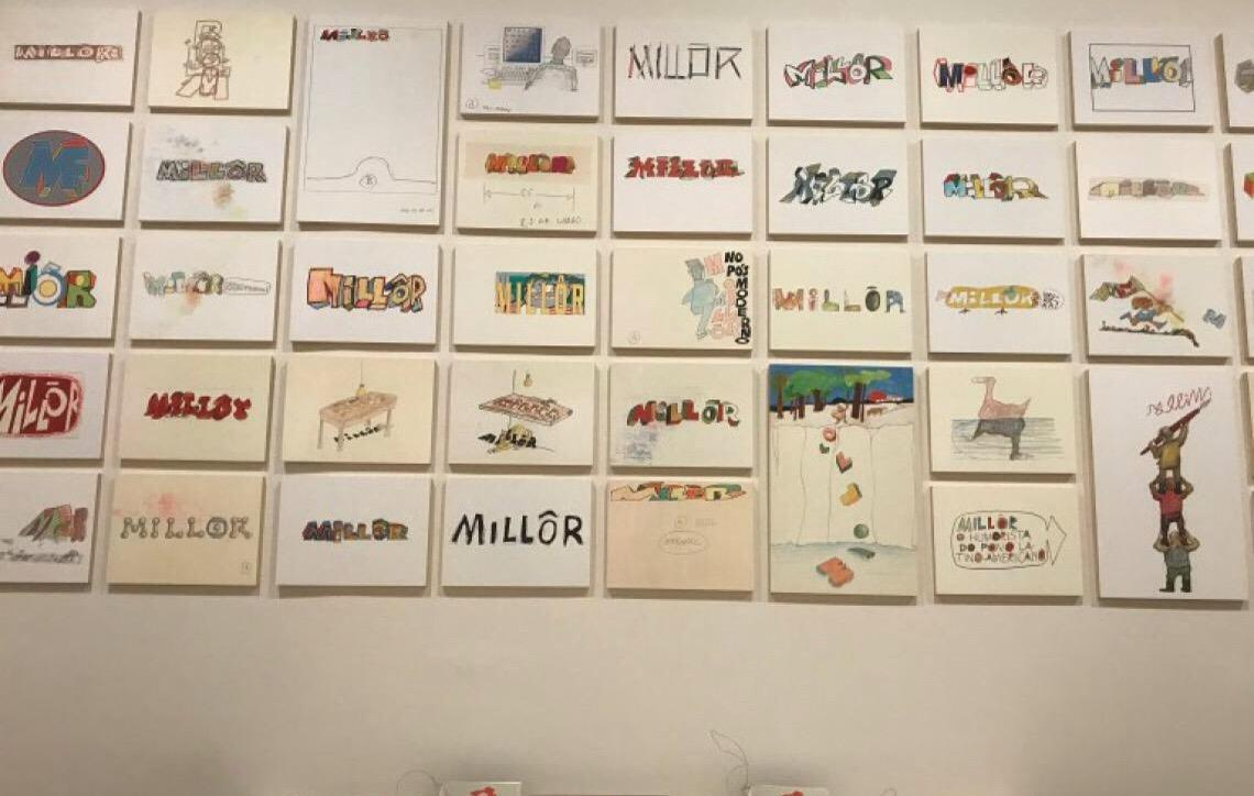 IMS expõe maior coleção de obras ilustradas de Millôr Fernandes em São Paulo