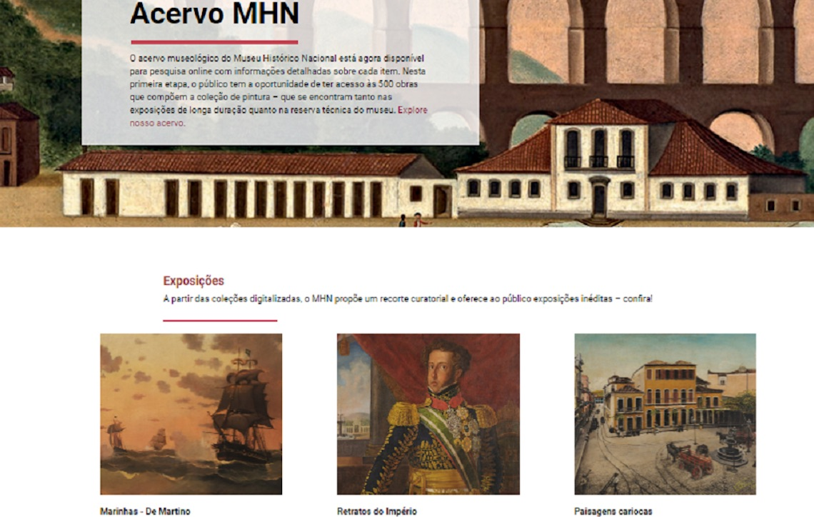 Museu Histórico Nacional disponibiliza on-line 500 pinturas
