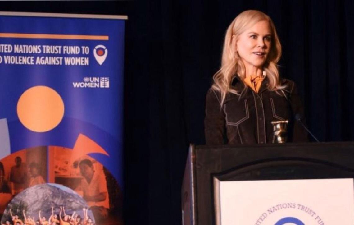 Atriz Nicole Kidman quer dar voz às mulheres sobreviventes de violência