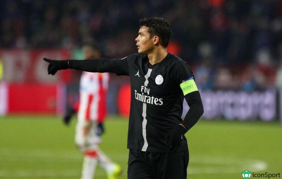 Thiago Silva é eleito o melhor estrangeiro do futebol francês em 2018