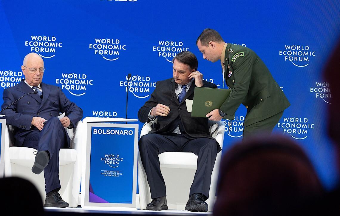 Somos o país que mais preserva, diz Jair Bolsonaro em Davos