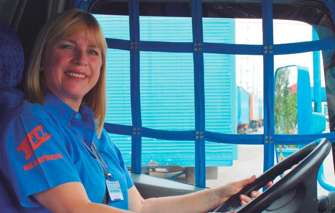 Motoristas mulheres elevam índices de qualidade da Braspress