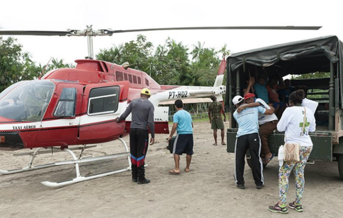 Helicóptero vai agilizar atendimento médico a índios no Amazonas