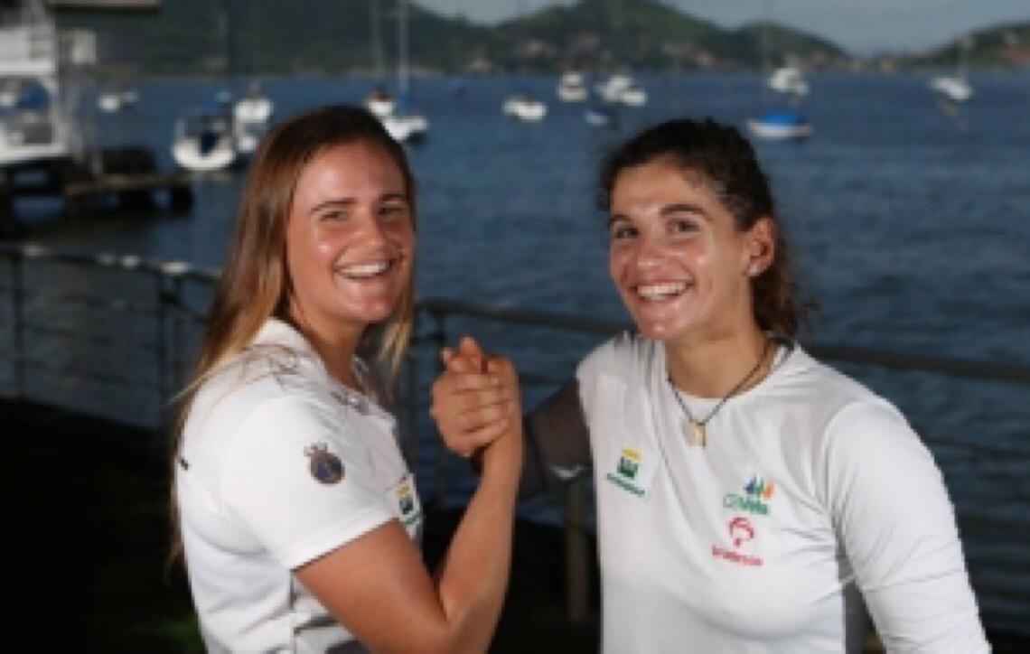 Martine Grael e Kahena Kunze: divididas entre o Pan e a Olimpíada