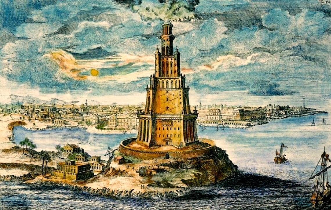 Conheça a história do Farol de Alexandria