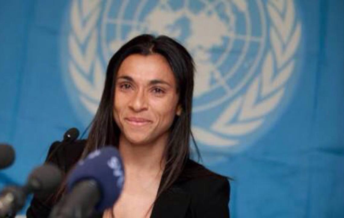 Marta fala de igualdade de gênero e é aplaudida de pé na Organização das Nações Unidas