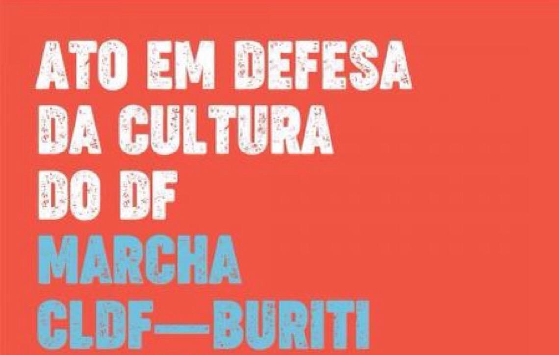 Ato público em Brasília reúne trabalhadores em defesa das conquistas do setor cultural