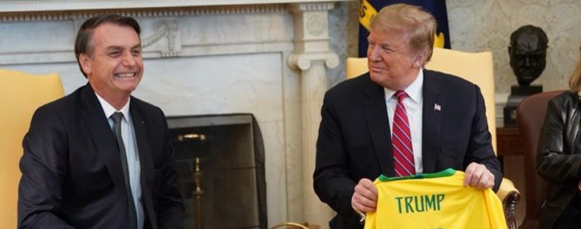 """Faltou um tuíte de Donald Trump em defesa do """"amigo"""" Jair Bolsonaro"""