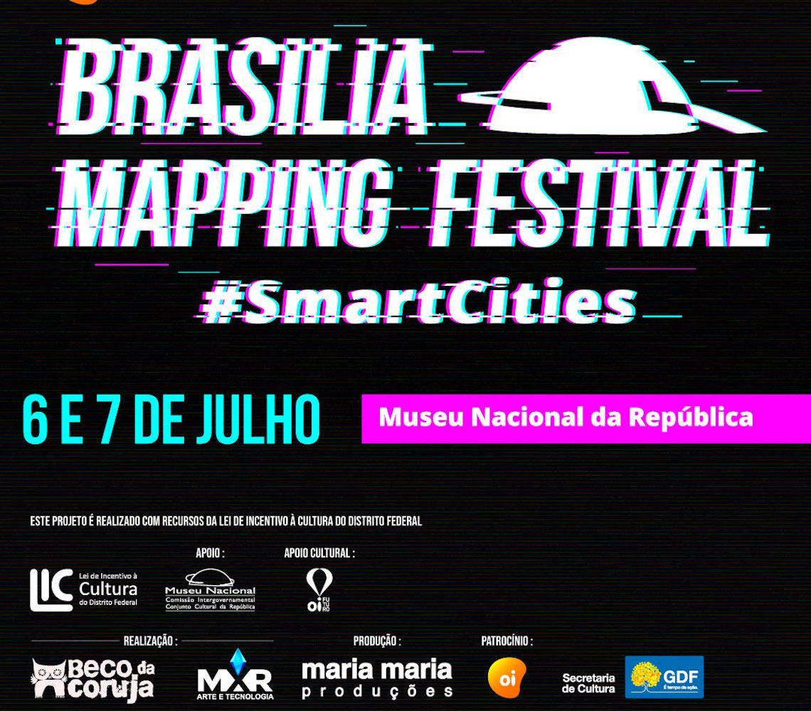 Últimos dias para a inscrição Brasília Mapping Festival: #SmartCities para artistas digitais do DF