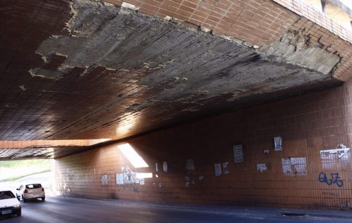 """Em Brasília. Tribunal de Contas alerta: viadutos receberam """"pouca ou nenhuma intervenção"""""""