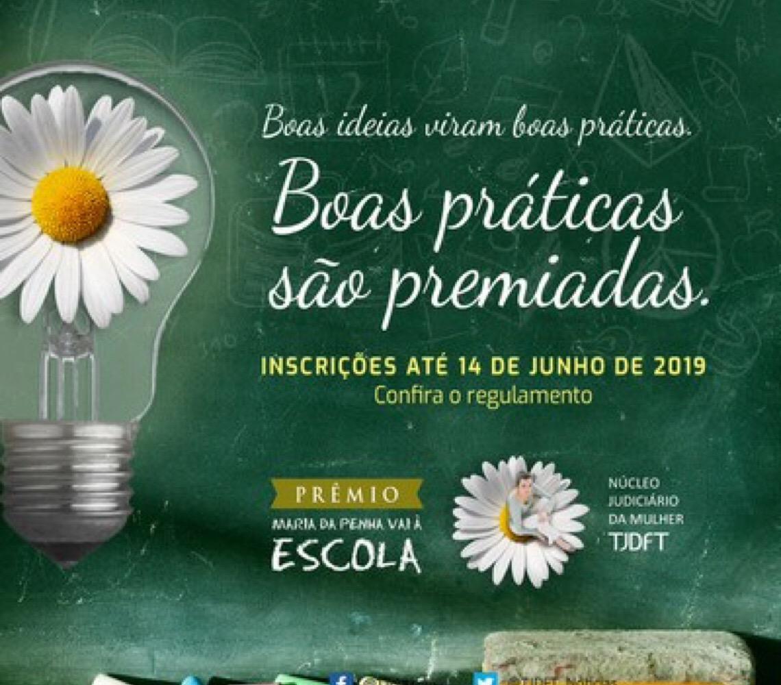 Maria da Penha vai à Escola abre inscrições para primeira edição de Prêmio Maria da Penha Vai à Escola