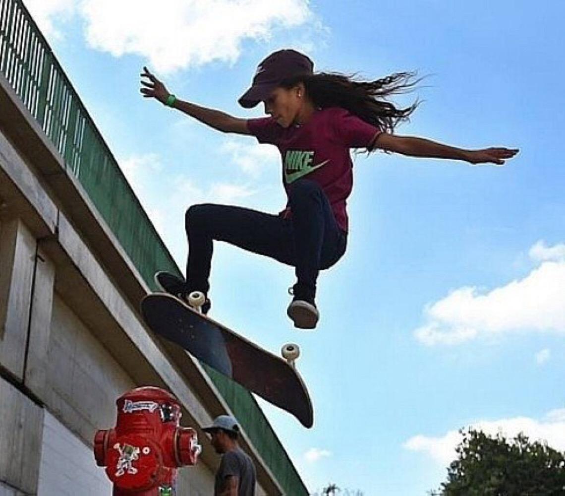 Rayssa Leal (13 anos), a mais jovem atleta brasileira a competir nas Olimpíadas