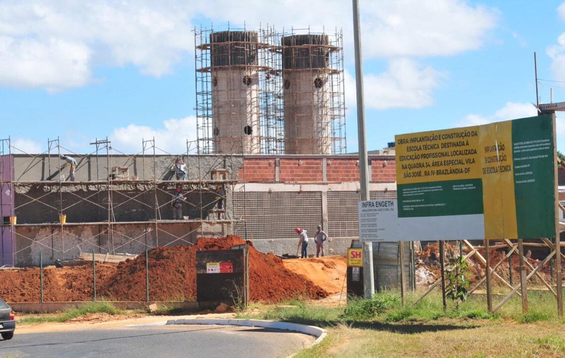 Nova unidade. Brazlândia terá uma escola técnica em 2020. R$ 14,5 milhões é o investimento