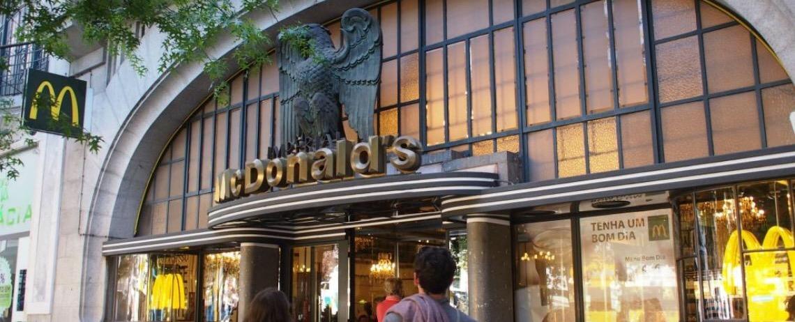 No Porto. McDonald's mais bonito do mundo fica em Portugal