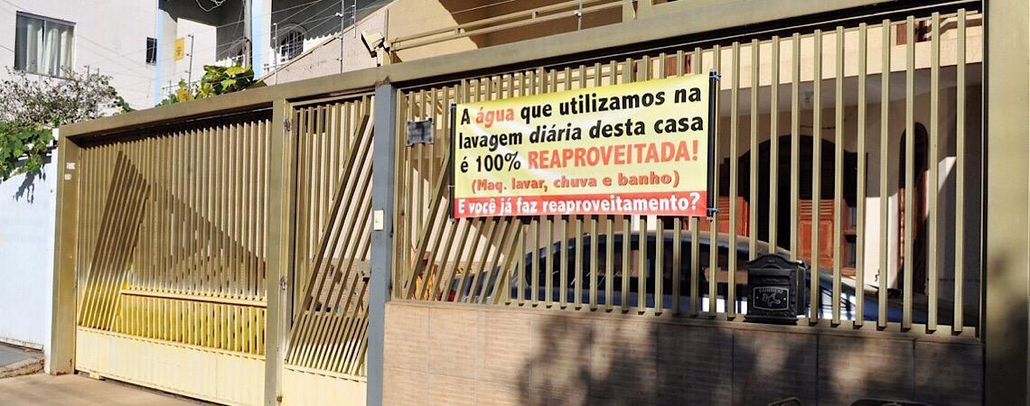 """""""E você, já faz reaproveitamento?"""" Economia de água deve ser constante em Brasília"""