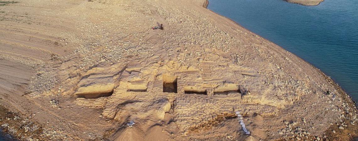 Seca revela palácio de mais de 3 mil anos no Iraque