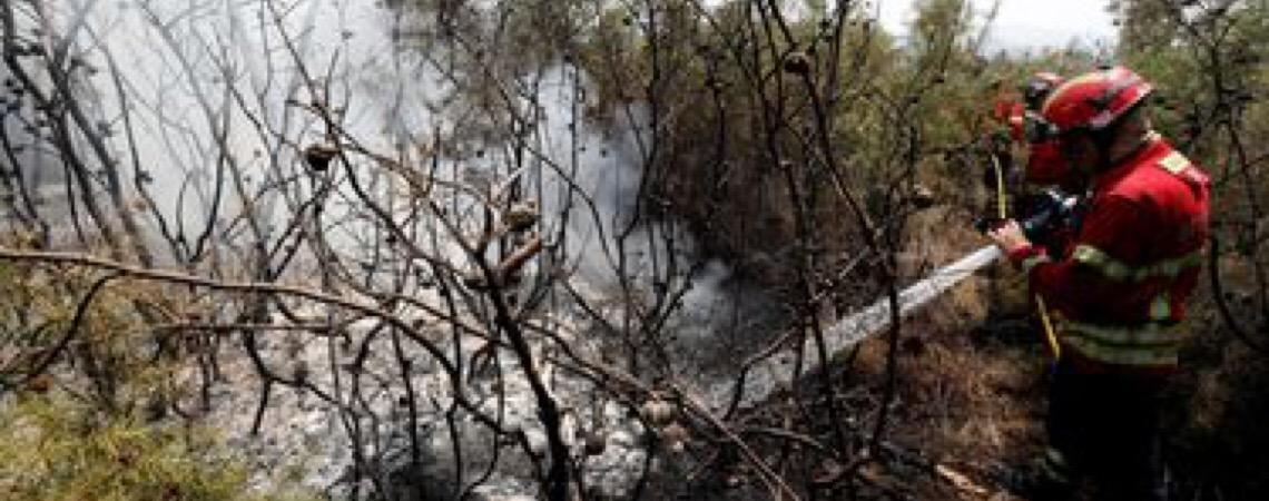 Presidente de Portugal, Marcelo Rebelo visita ferido em incêndio de Vila de Rei