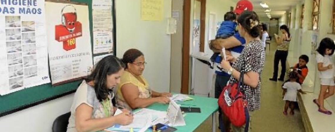 Vacinação para evitar o sarampo em Brasília