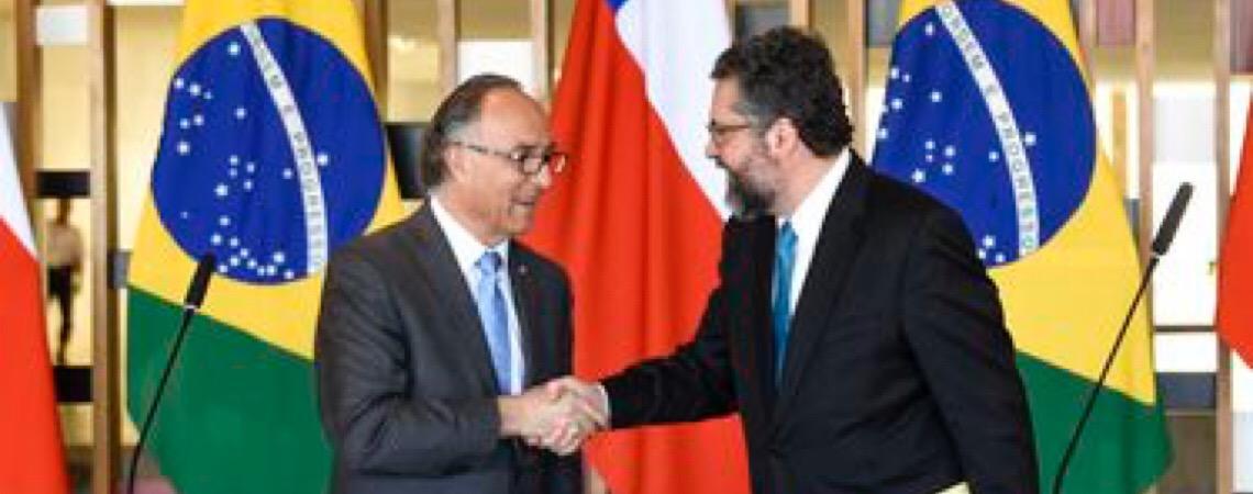 Brasil e Chile divulgam declaração para acelerar livre comércio