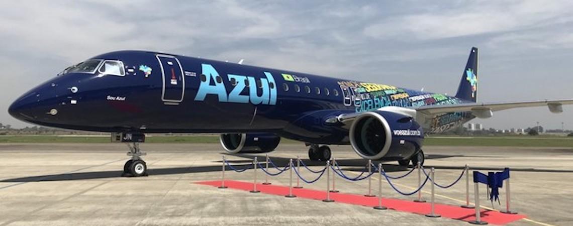 Embraer entrega à Azul o maior avião comercial brasileiro