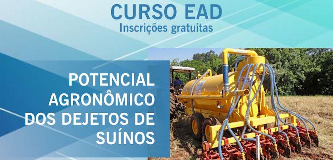 Embrapa: termina amanhã prazo para inscrições no curso a distância sobre potencial agronômico dos dejetos suínos