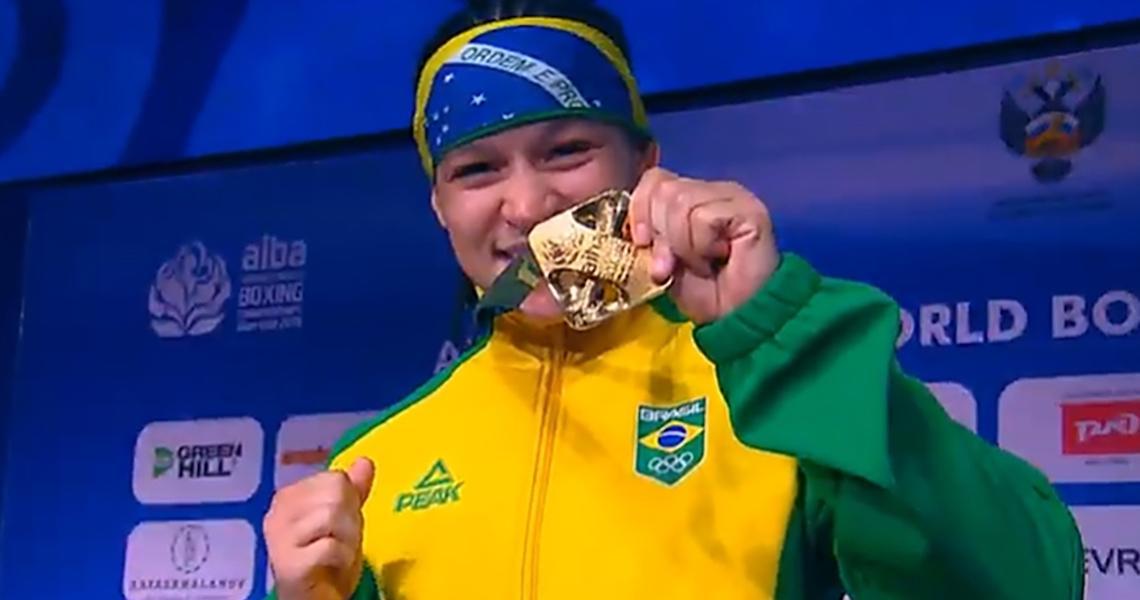 Beatriz Ferreira conquista a medalha de ouro no Mundial da Rússia