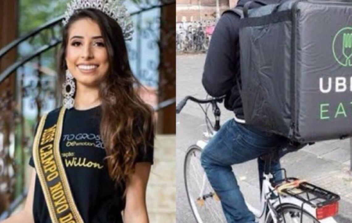 Miss perde o título em Mato Grosso após humilhar entregador de bicicleta
