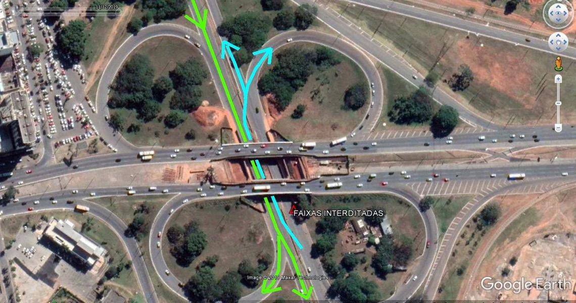 Obras em viaduto vão alterar trânsito na EPTG no sábado e no domingo