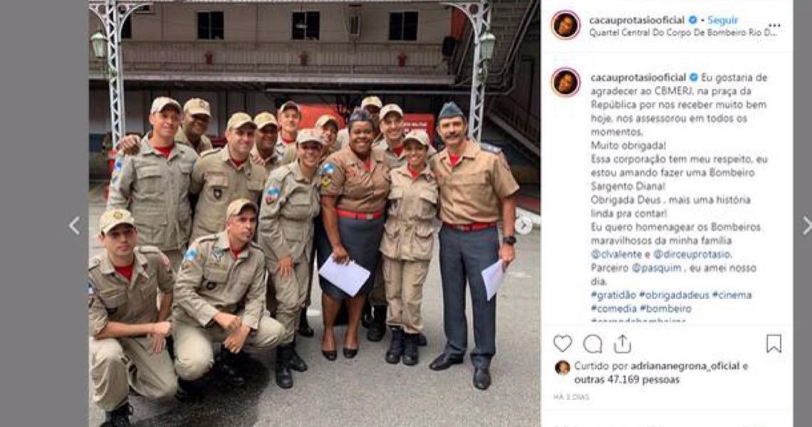 Bombeiros do Rio tentam descobrir autores de áudios racistas contra atriz Cacau Protásio