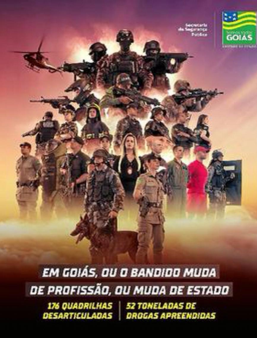 Em Goiás, ou o bandido muda de profissão ou muda de estado