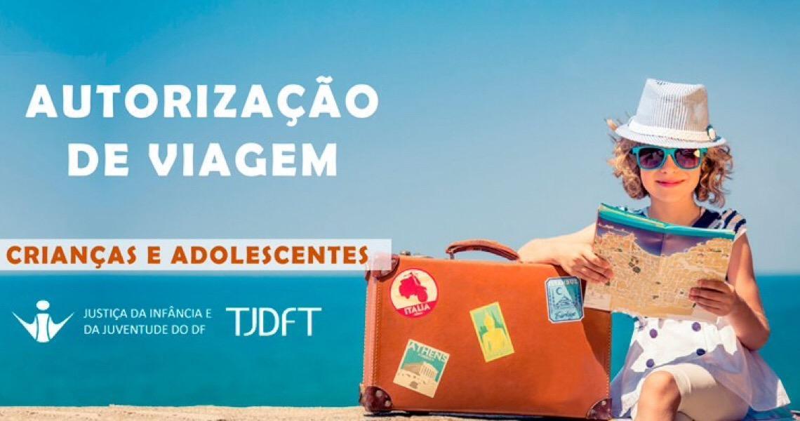 VIJ-DF orienta sobre autorização de viagem para crianças e adolescentes