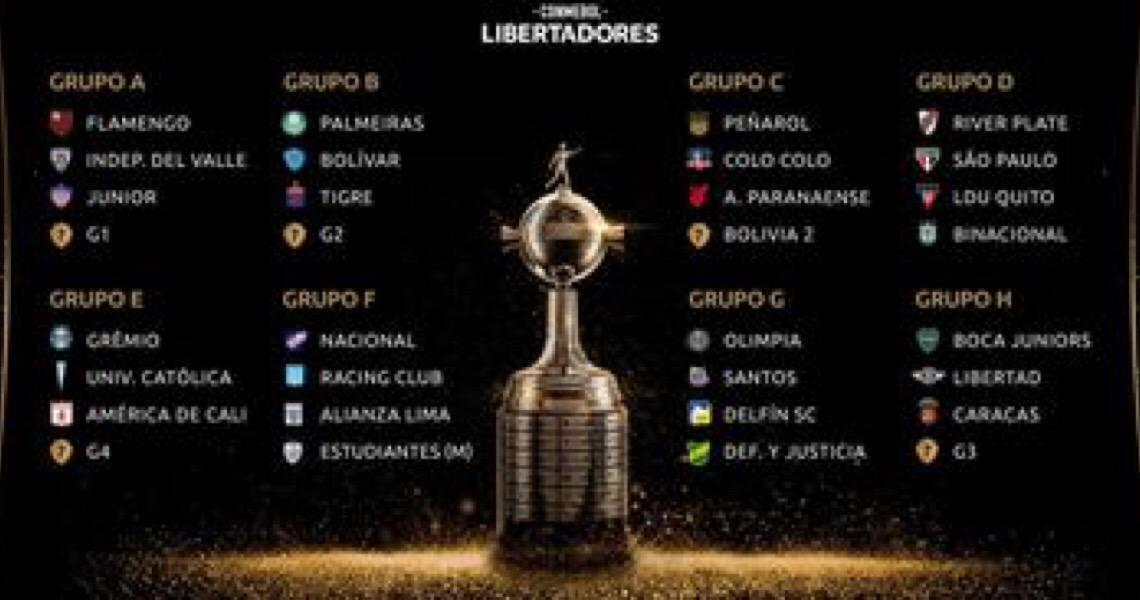 Conmebol define datas e horários da Libertadores e Sul-Americana 2020