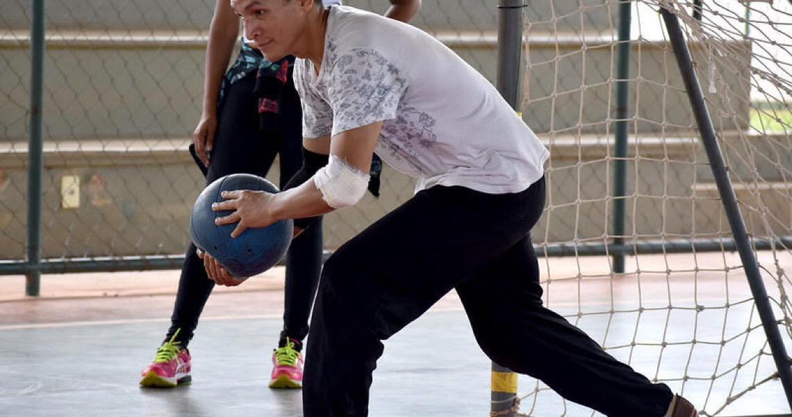 Em São Sebastião no DF, goalball atrai paratletas do Brasil