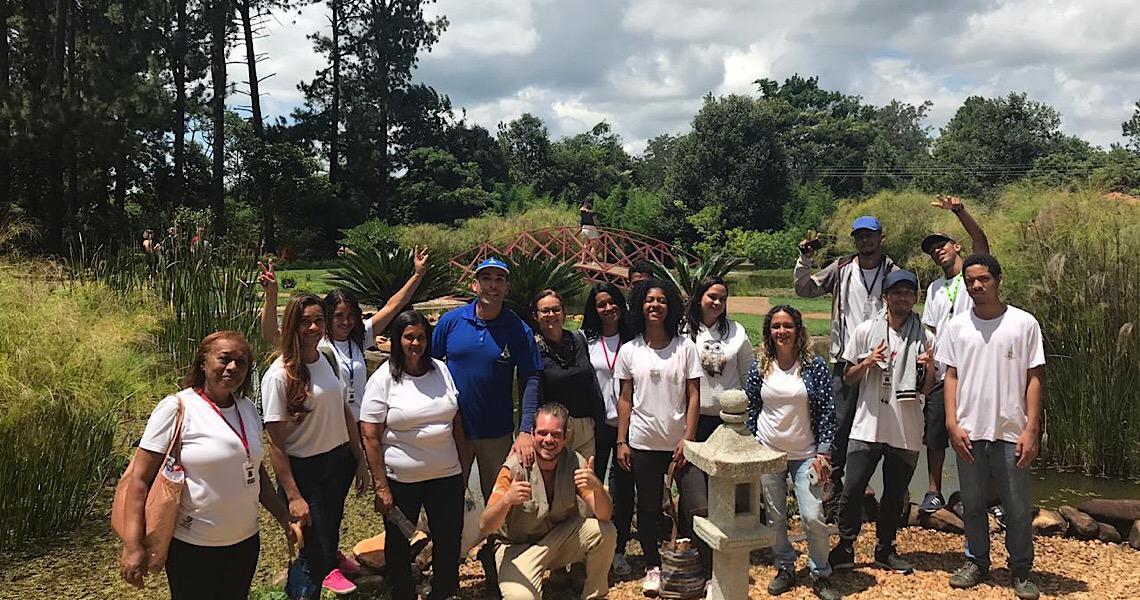 Jardim Botânico recebe alunos de paisagismo do projeto Fábrica Social