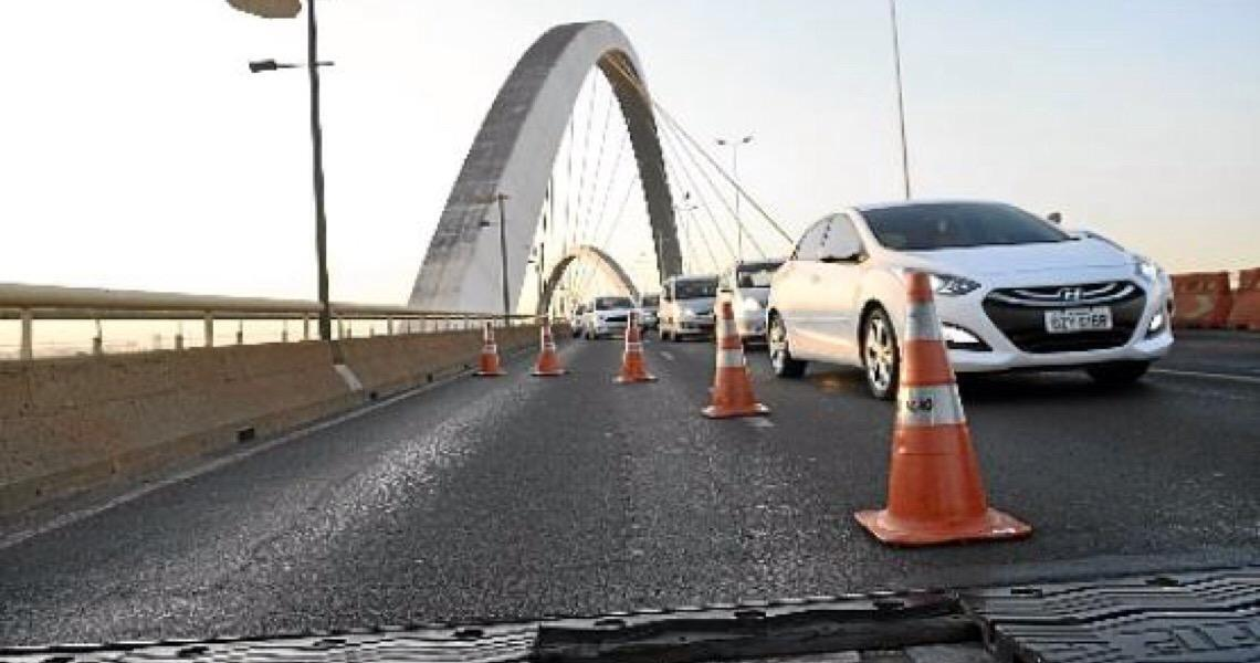 Ponte JK será interditada para restauração nas placas de dilatação