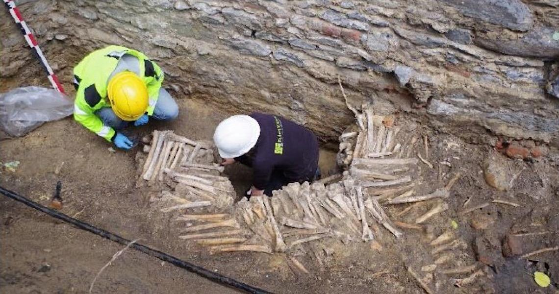 Paredes de ossos humanos são encontradas em catedral medieval na Bélgica