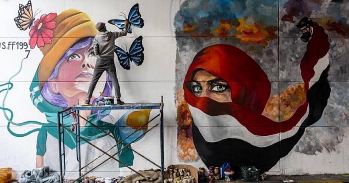 Além de muros e guerras: um grande mosaico de arte política no Iraque