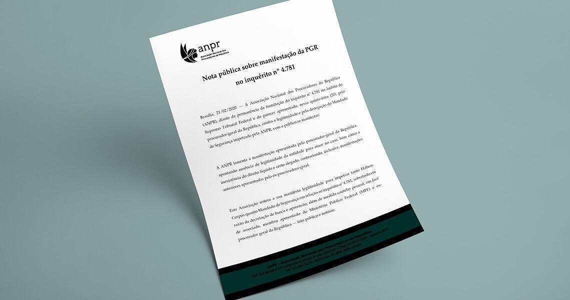 Nota pública sobre a manifestação da PGR no inquérito que investiga críticas a ministros do STF