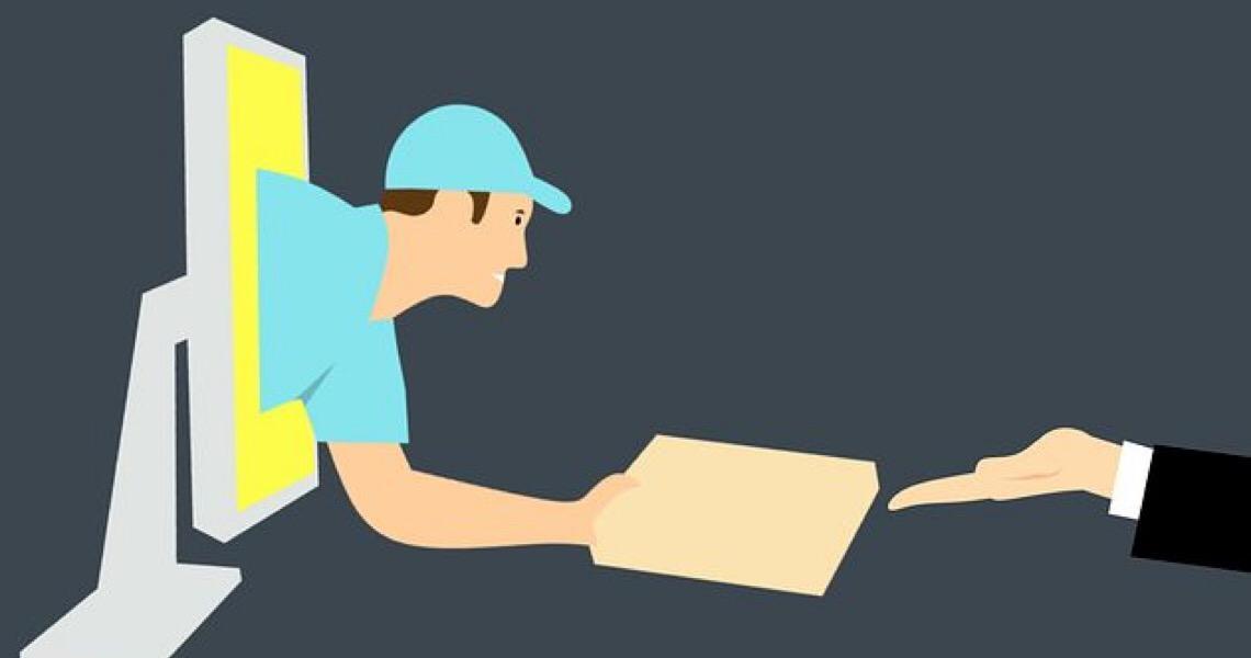Aplicativos de entrega criam serviços sem contato com o cliente