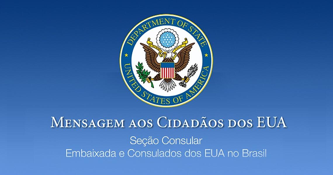 Embaixada dos Estados Unidos recomenda saída imediata de cidadãos americanos do Brasil