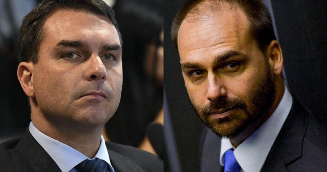 Flávio e Eduardo endossam pronunciamento de Bolsonaro em defesa do fim do isolamento social